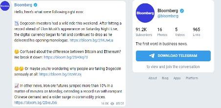 Bloomberg on Telegram