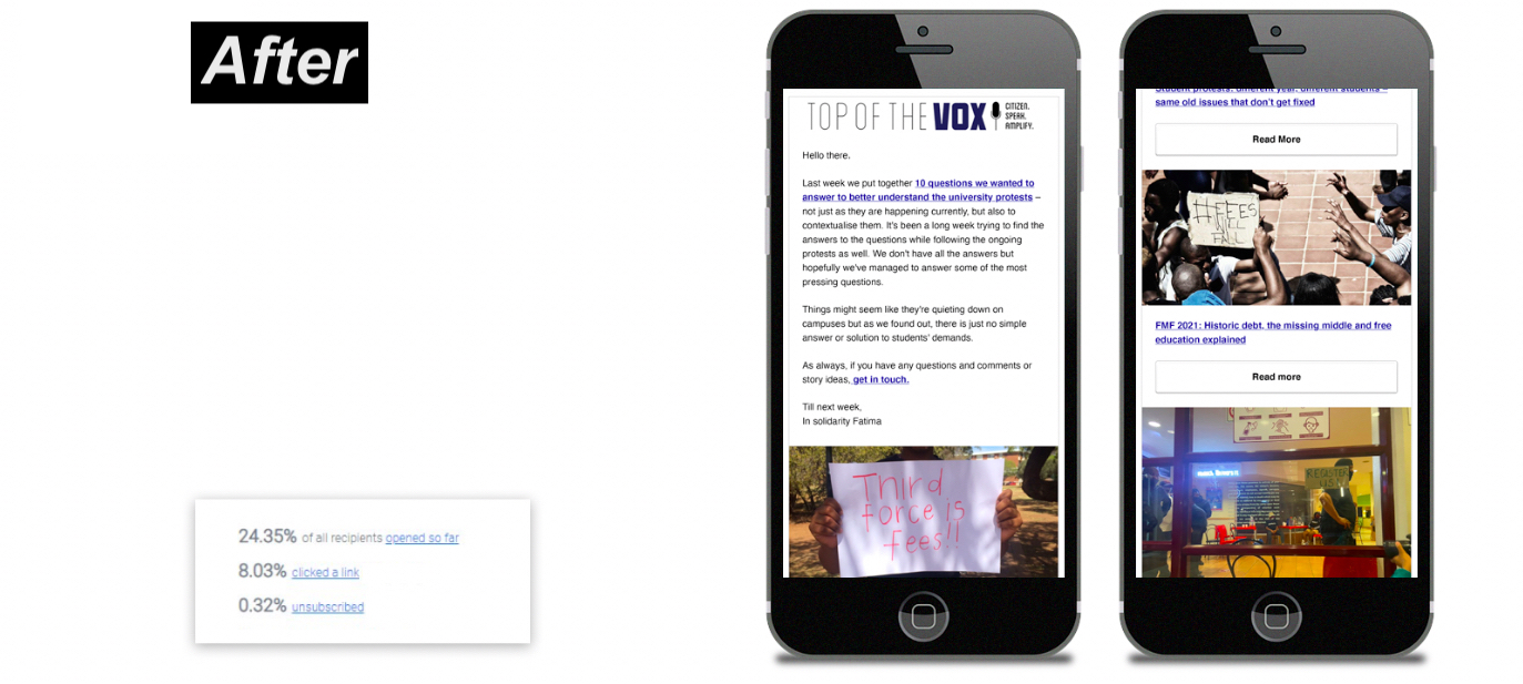 The Daily Vox updated its newsletter layout to make stronger use of images, and less text